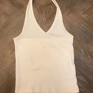 Cream colored halter top from AE